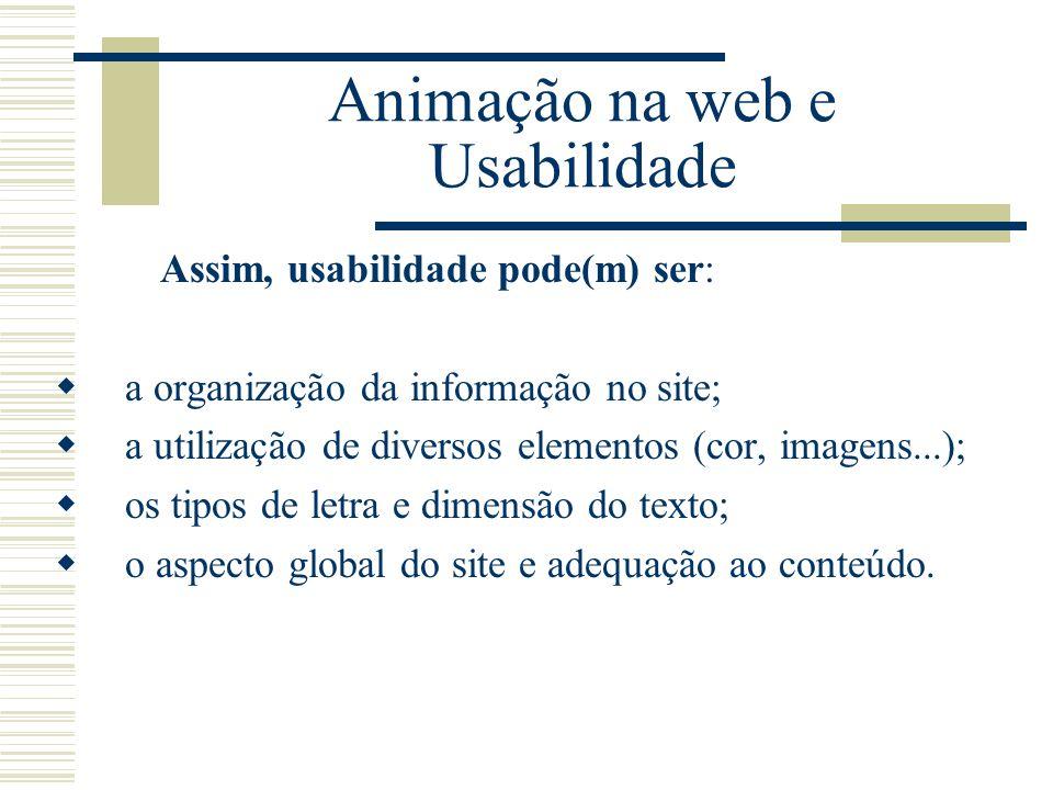 Animação na web e Usabilidade