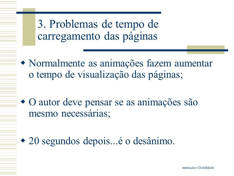 3. Problemas de tempo de carregamento das páginas