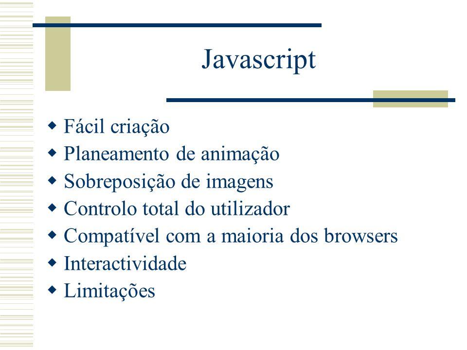 Javascript Fácil criação Planeamento de animação