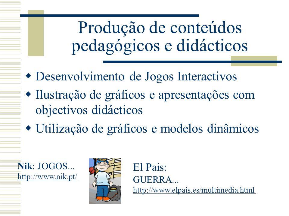 Produção de conteúdos pedagógicos e didácticos