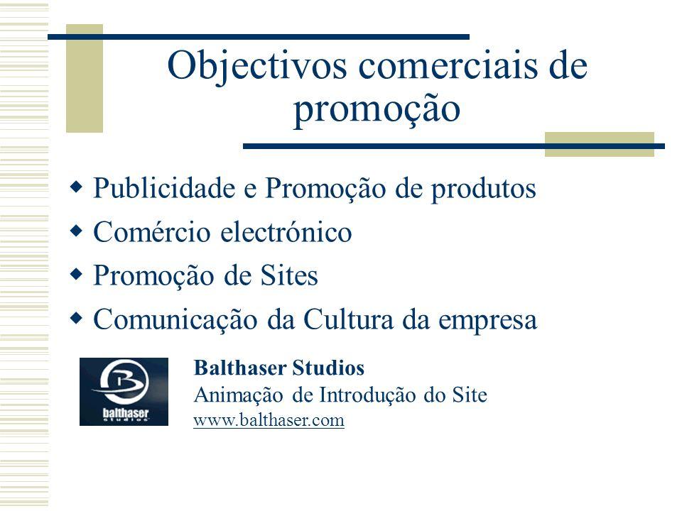 Objectivos comerciais de promoção