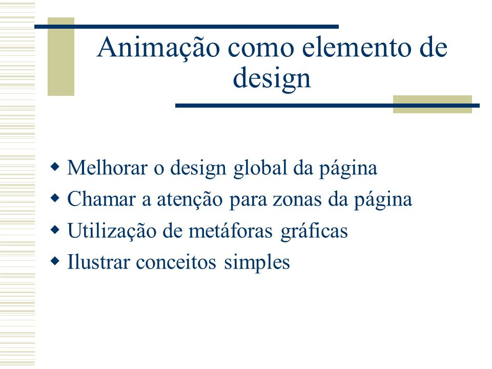 Animação como elemento de design