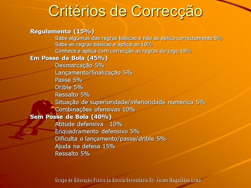 Critérios de Correcção