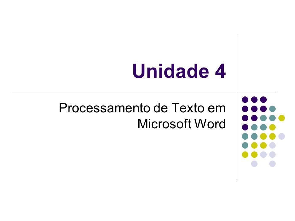 Processamento de Texto em Microsoft Word