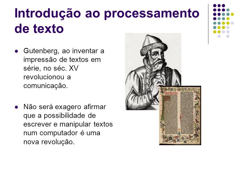 Introdução ao processamento de texto