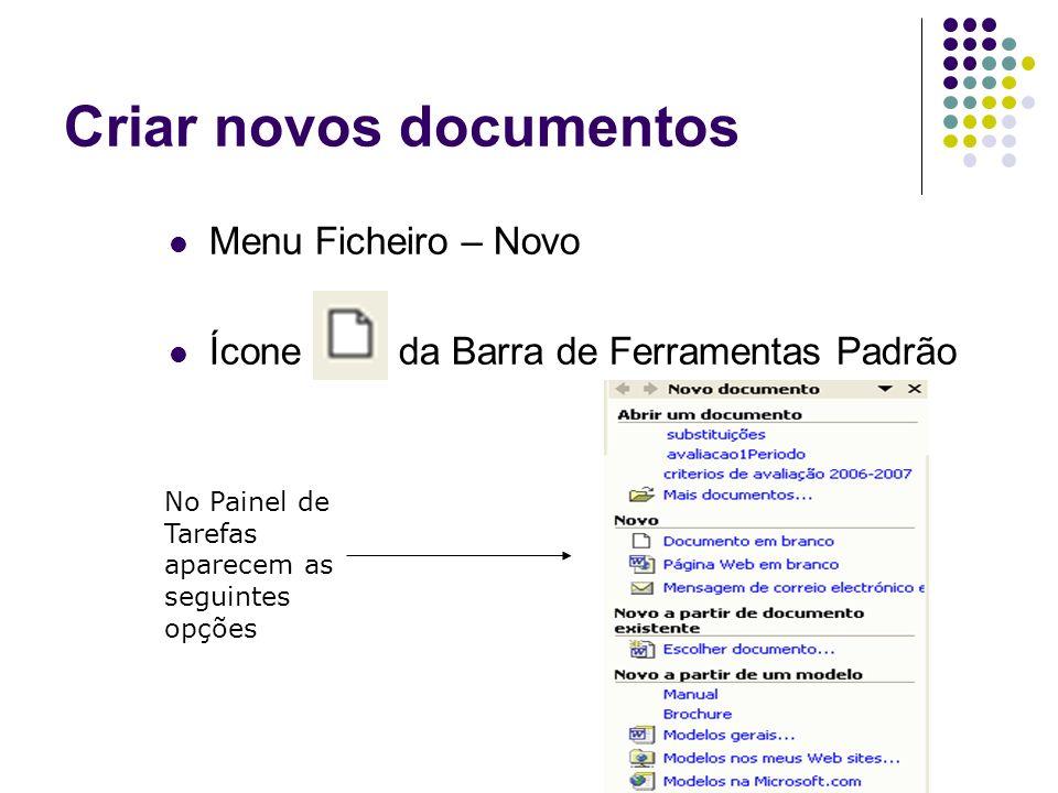 Criar novos documentos