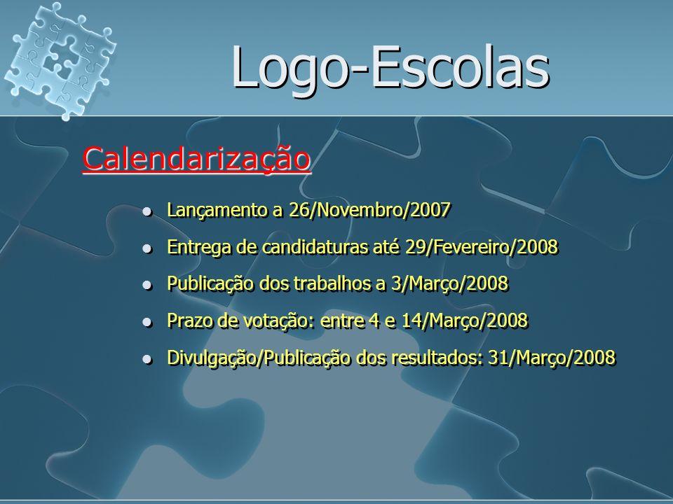 Logo-Escolas Calendarização Lançamento a 26/Novembro/2007