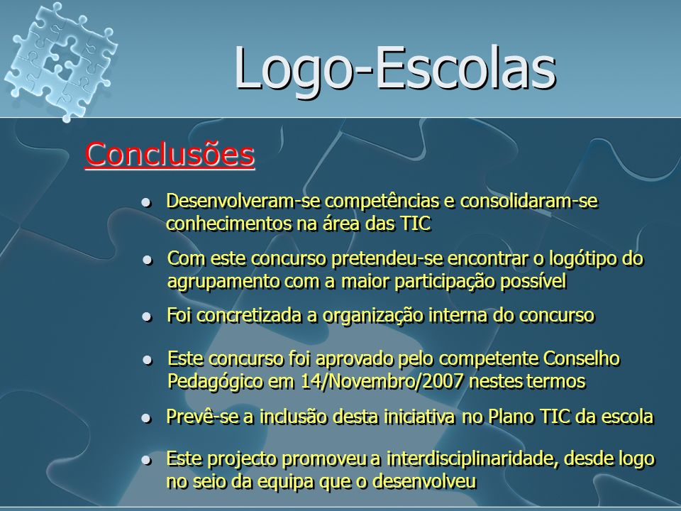 Logo-Escolas Conclusões