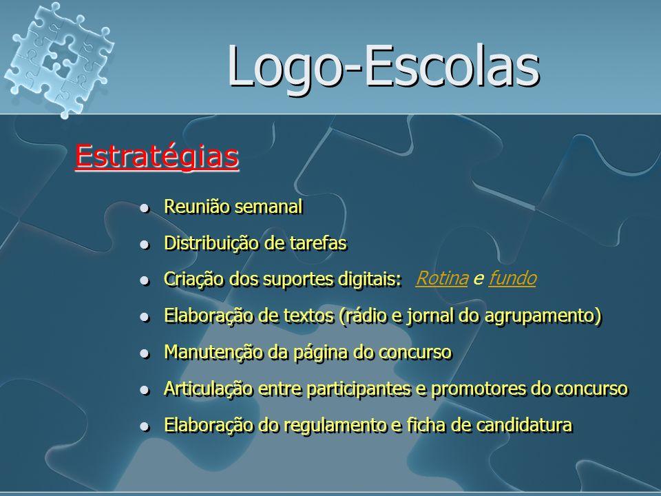 Logo-Escolas Estratégias Reunião semanal Distribuição de tarefas