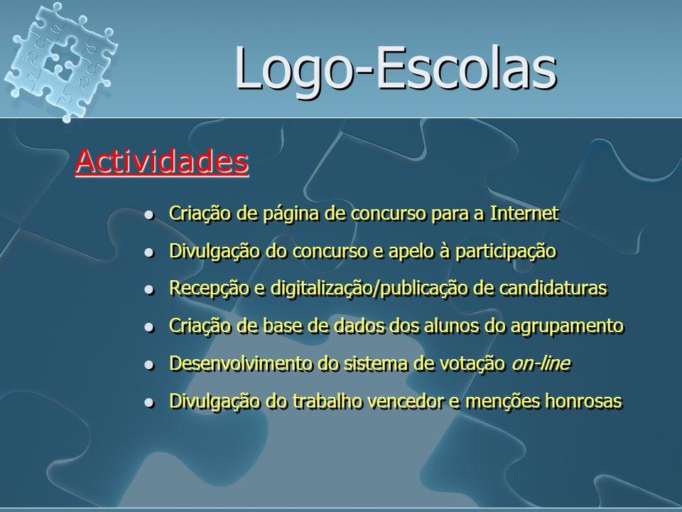 Logo-Escolas Actividades Criação de página de concurso para a Internet