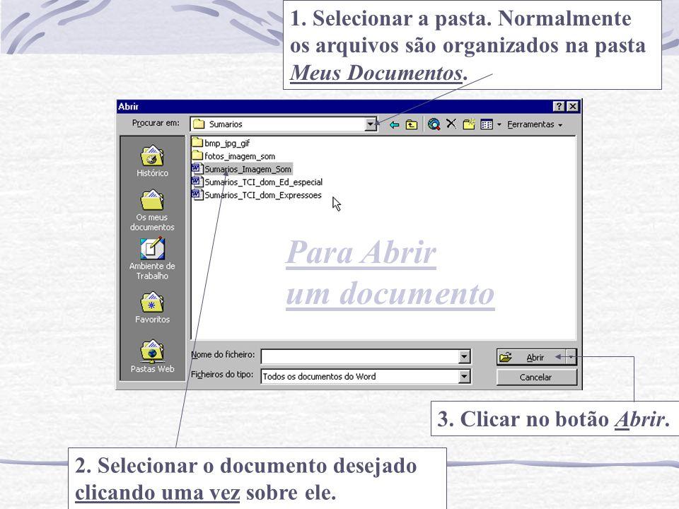 Para Abrir um documento