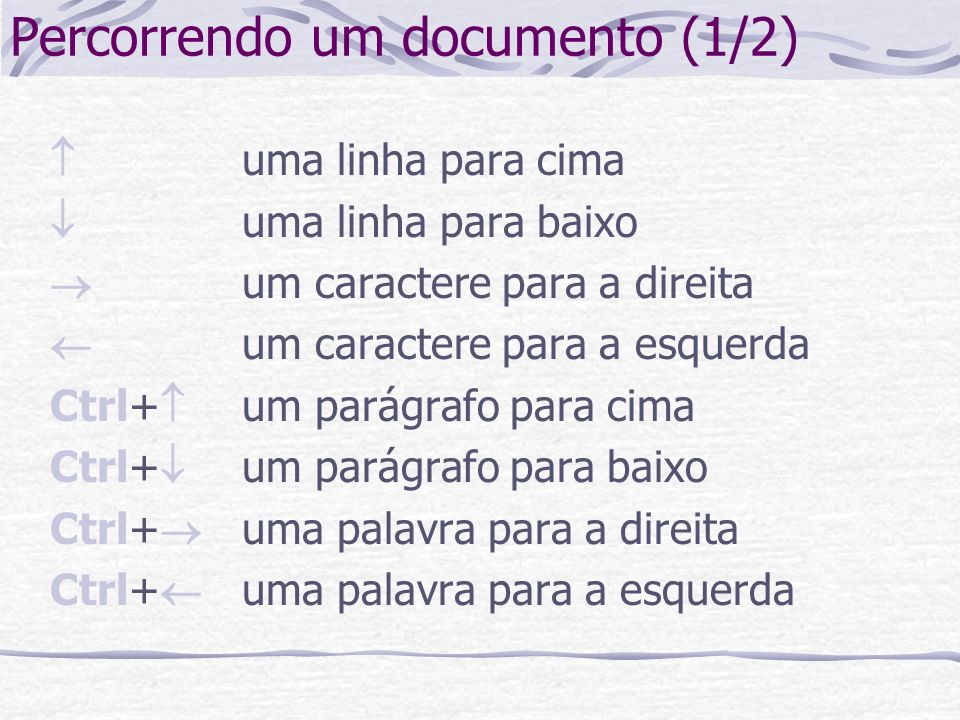 Percorrendo um documento (1/2)