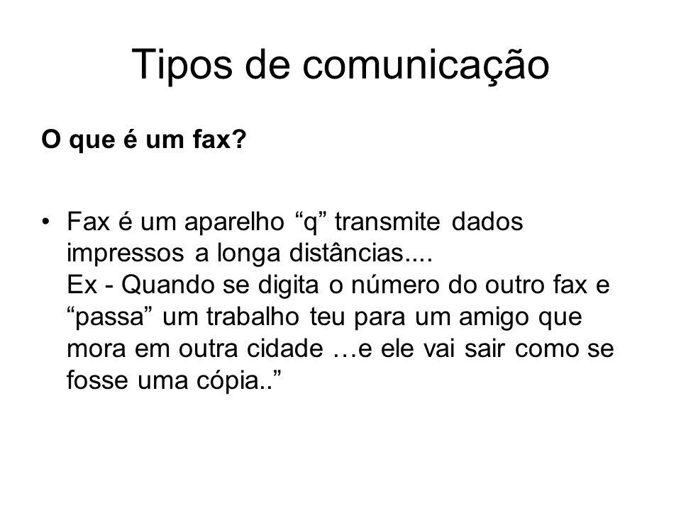 Tipos de comunicação O que é um fax