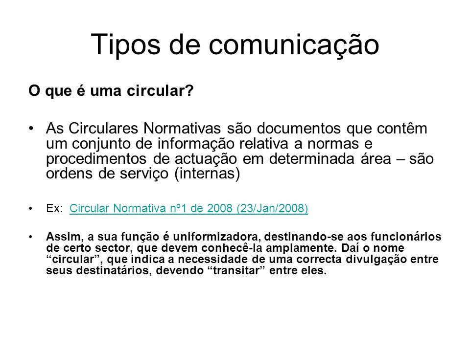 Tipos de comunicação O que é uma circular