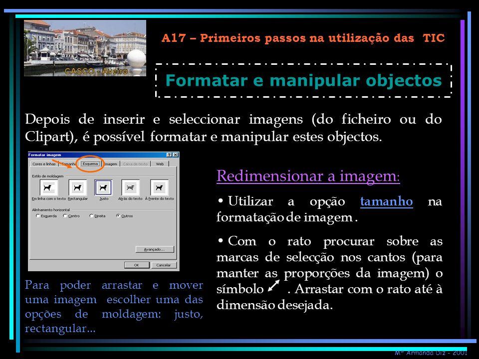 Formatar e manipular objectos