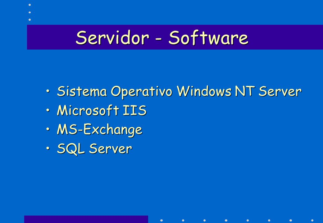 Servidor - Software Sistema Operativo Windows NT Server Microsoft IIS