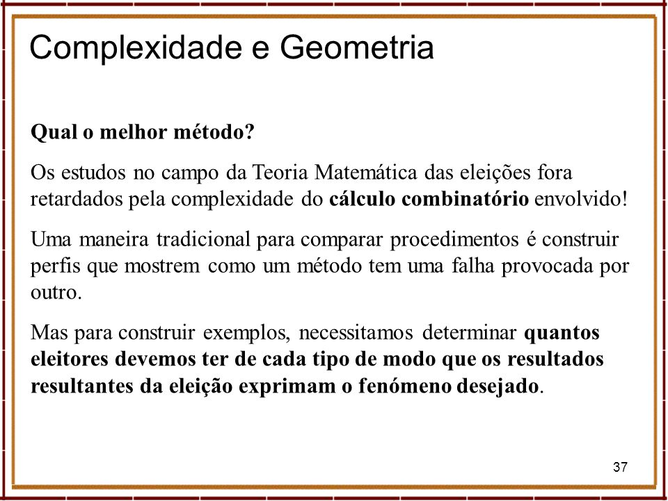 Complexidade e Geometria