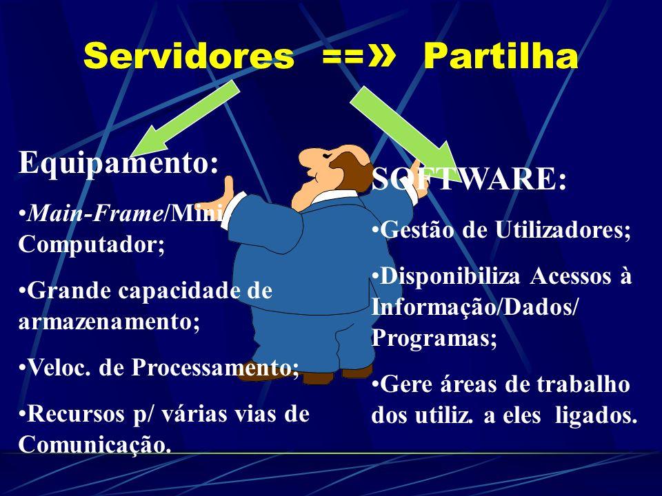 Servidores ==» Partilha