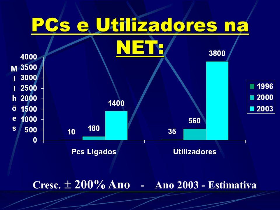 PCs e Utilizadores na NET: