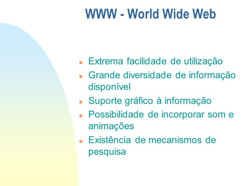 WWW - World Wide Web Extrema facilidade de utilização