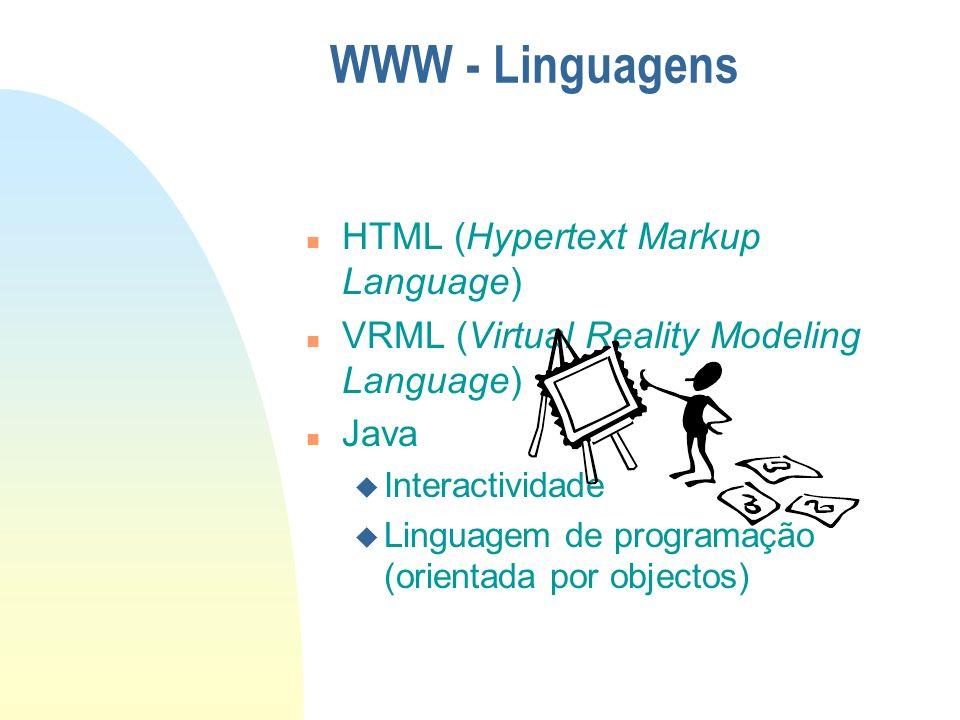 WWW - Linguagens HTML (Hypertext Markup Language)