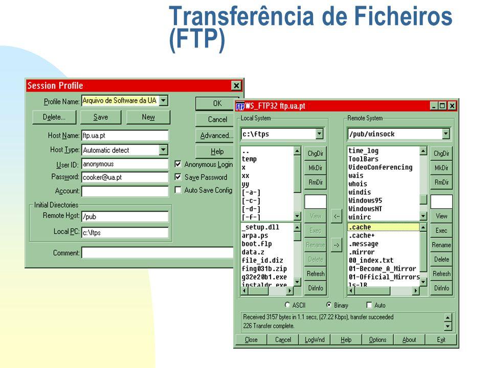 Transferência de Ficheiros (FTP)