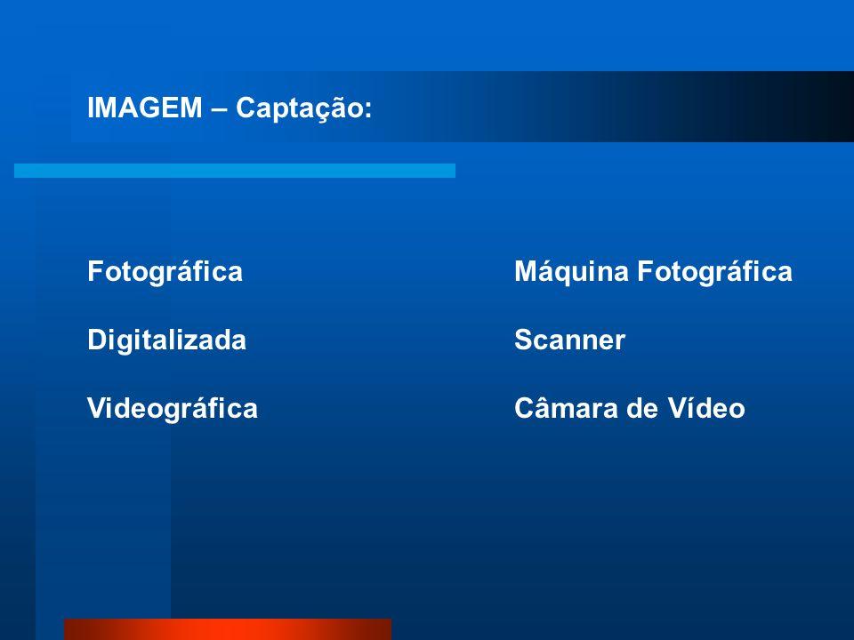 IMAGEM – Captação: Fotográfica. Digitalizada. Videográfica.