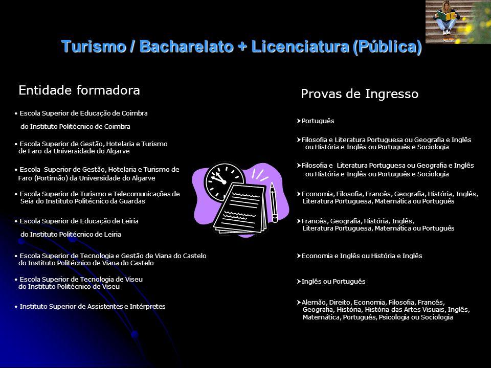Turismo / Bacharelato + Licenciatura (Pública)