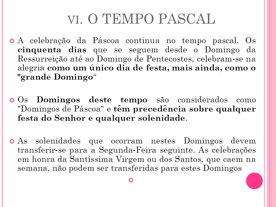vi. O TEMPO PASCAL