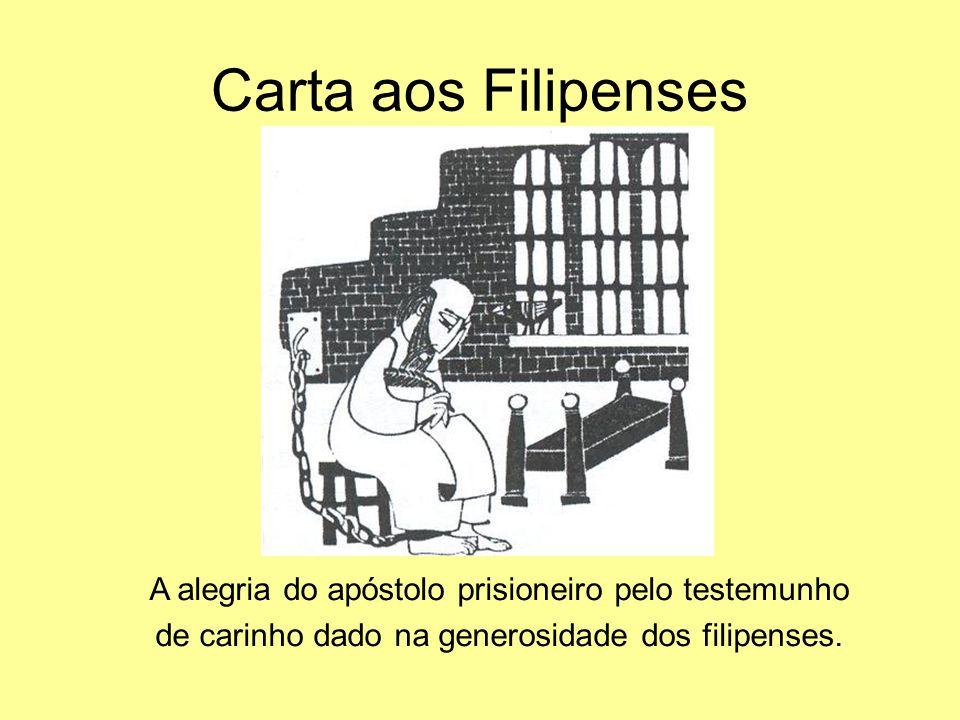 Carta aos Filipenses A alegria do apóstolo prisioneiro pelo testemunho