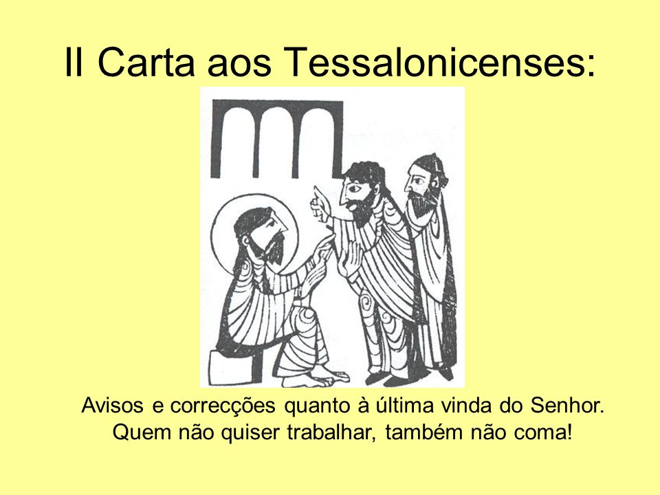 II Carta aos Tessalonicenses: