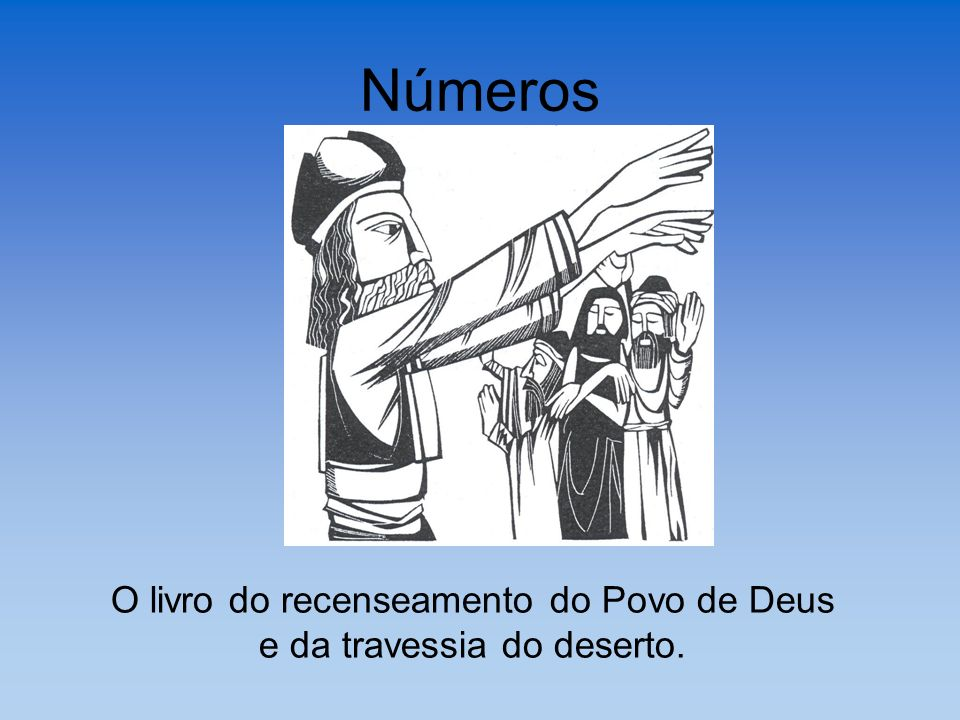 O livro do recenseamento do Povo de Deus e da travessia do deserto.