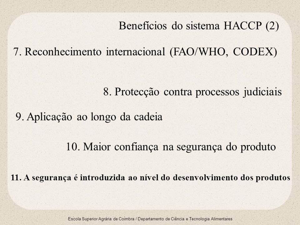 Benefícios do sistema HACCP (2)