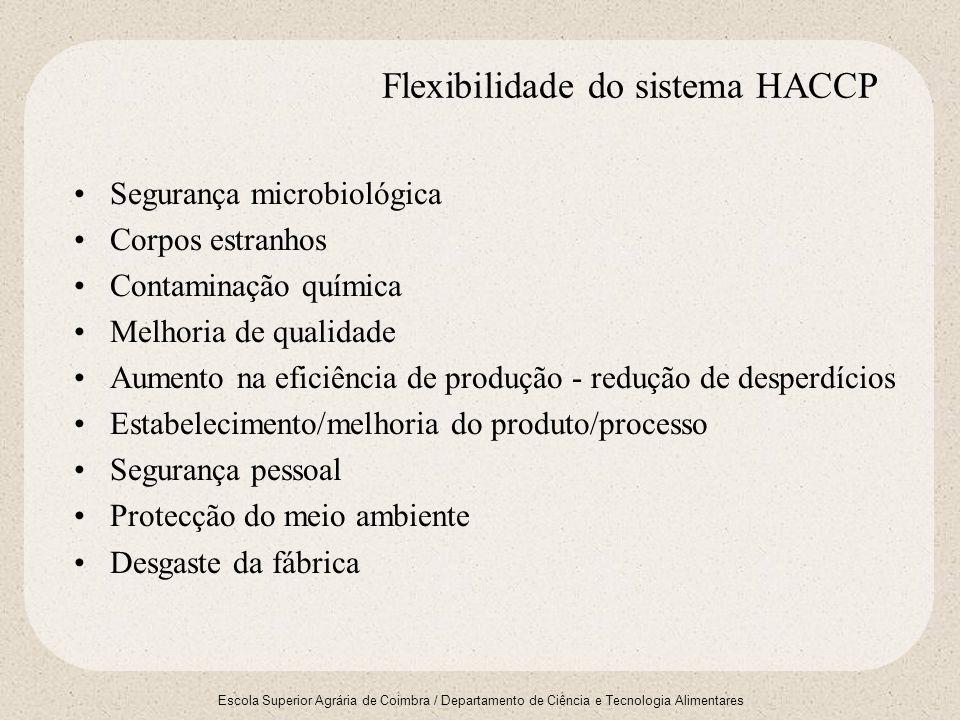 Flexibilidade do sistema HACCP