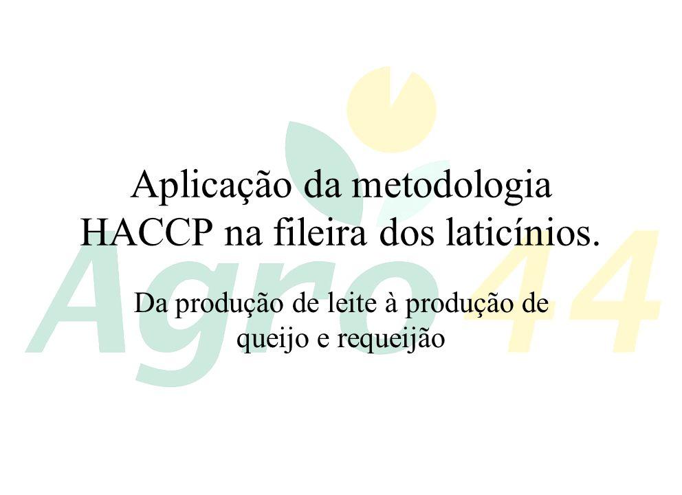 Aplicação da metodologia HACCP na fileira dos laticínios.