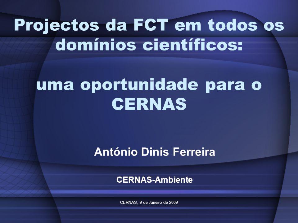 António Dinis Ferreira CERNAS-Ambiente
