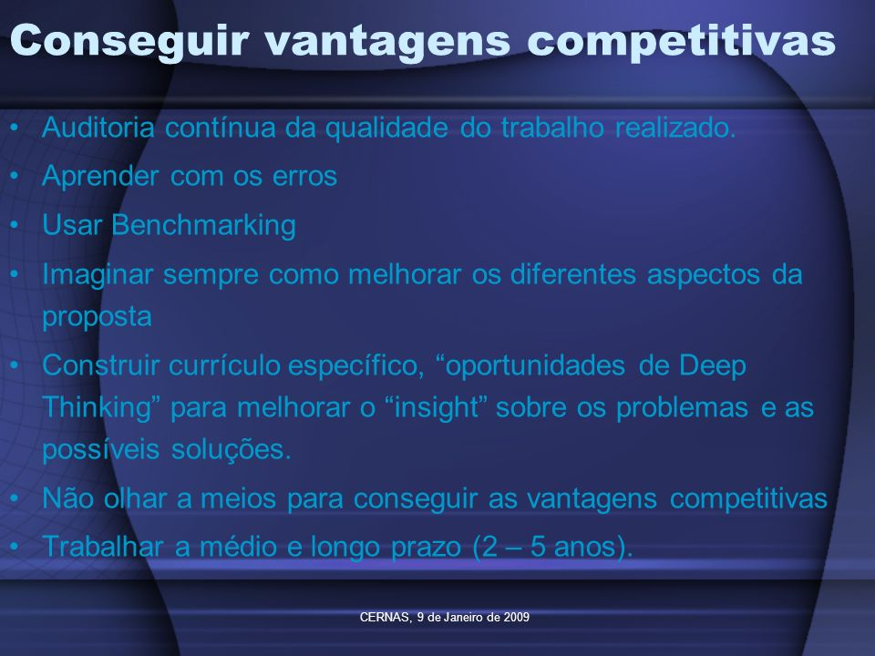 Conseguir vantagens competitivas