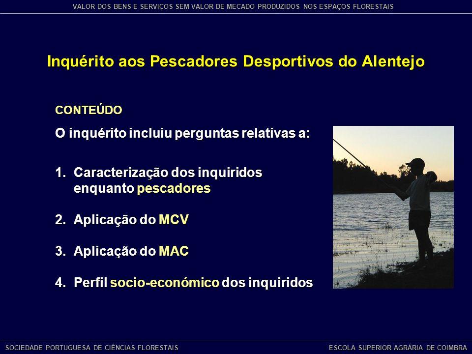 Inquérito aos Pescadores Desportivos do Alentejo