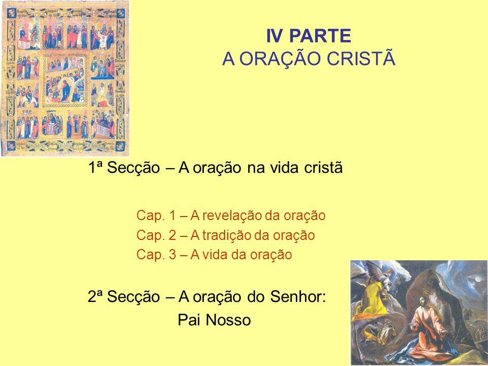 IV PARTE A ORAÇÃO CRISTÃ