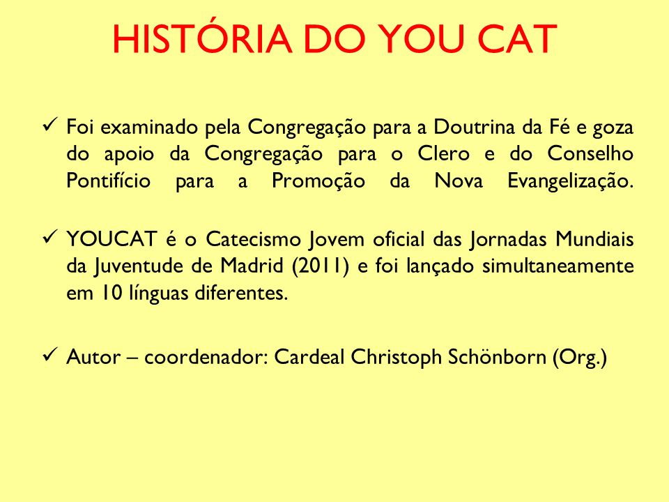 HISTÓRIA DO YOU CAT