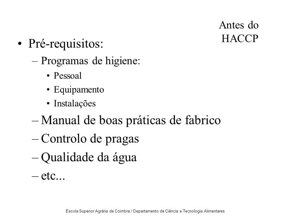 Manual de boas práticas de fabrico Controlo de pragas