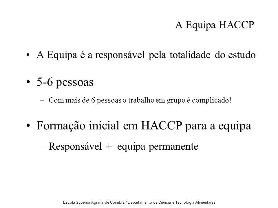 Formação inicial em HACCP para a equipa