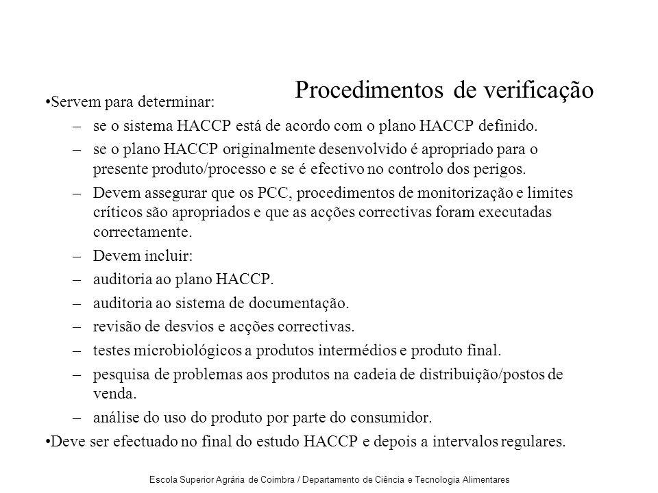 Procedimentos de verificação