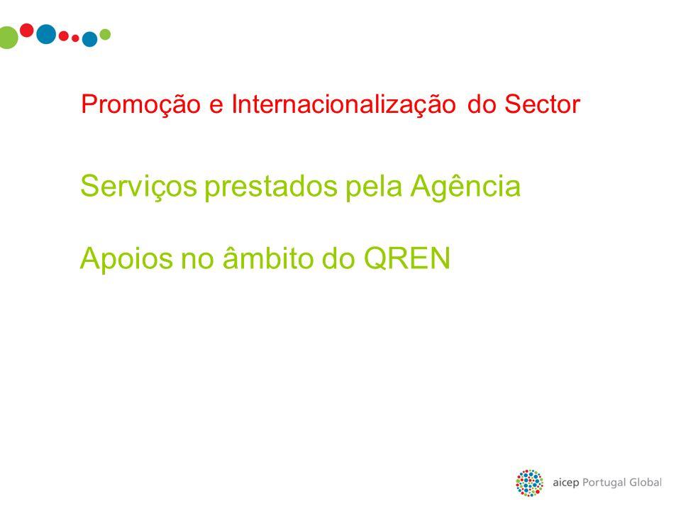 Serviços prestados pela Agência Apoios no âmbito do QREN