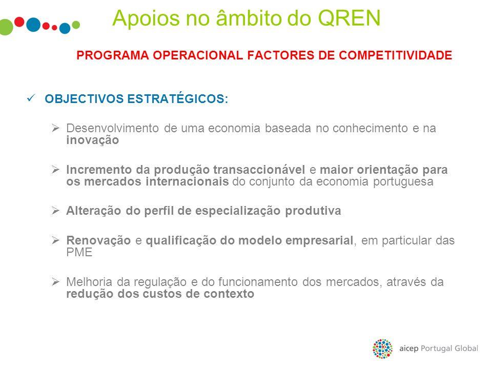 PROGRAMA OPERACIONAL FACTORES DE COMPETITIVIDADE