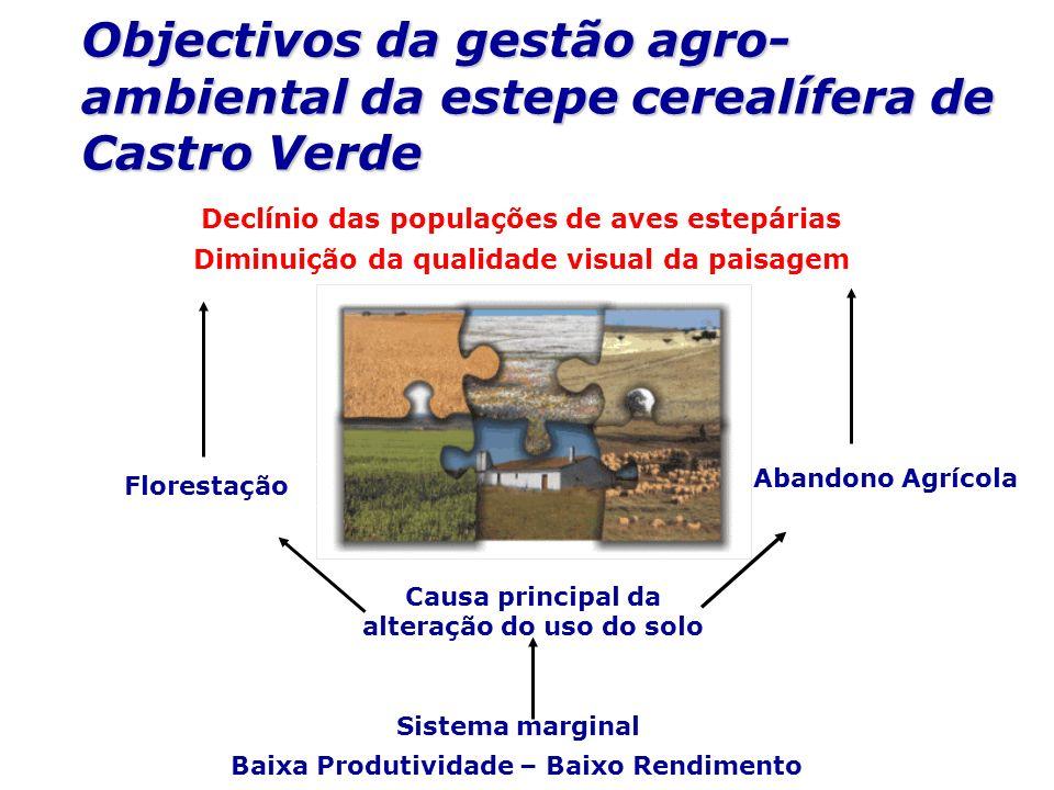 Objectivos da gestão agro-ambiental da estepe cerealífera de Castro Verde