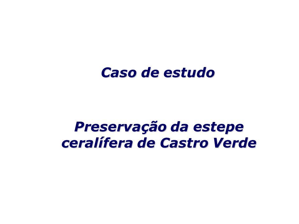 Preservação da estepe ceralífera de Castro Verde