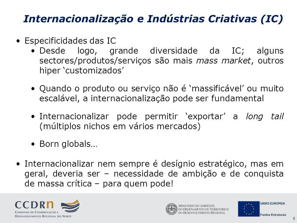 Internacionalização e Indústrias Criativas (IC)