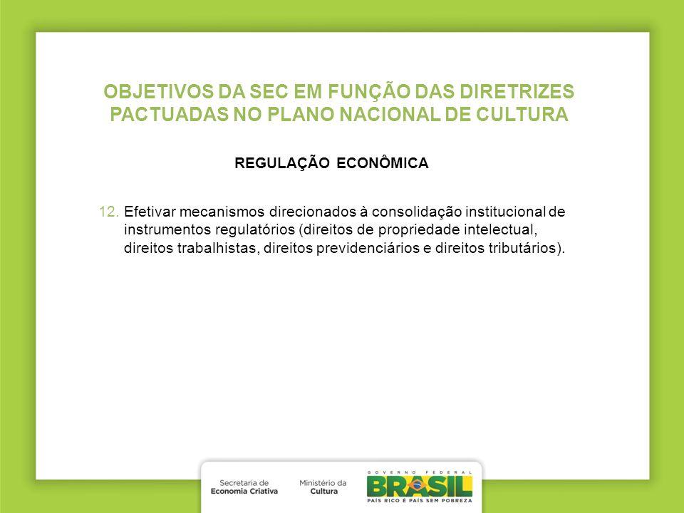 OBJETIVOS DA SEC EM FUNÇÃO DAS DIRETRIZES