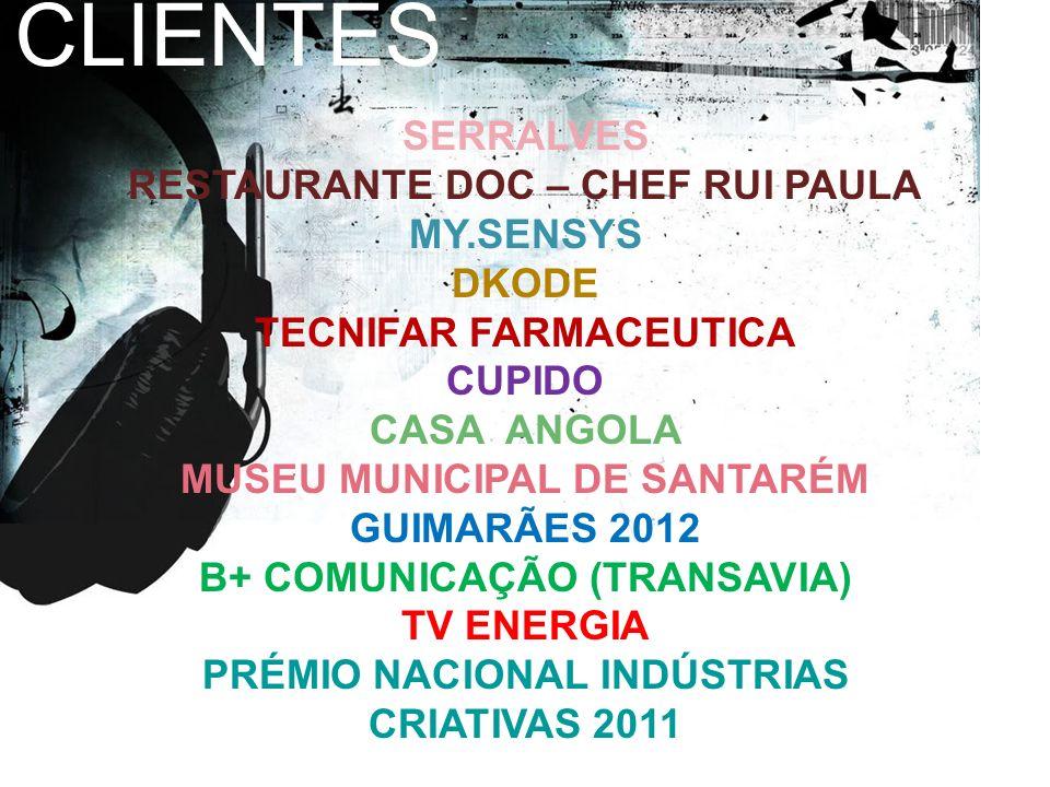 CLIENTES SERRALVES RESTAURANTE DOC – CHEF RUI PAULA MY.SENSYS DKODE